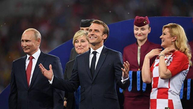 Награждение победителей ЧМ-2018 по футболу