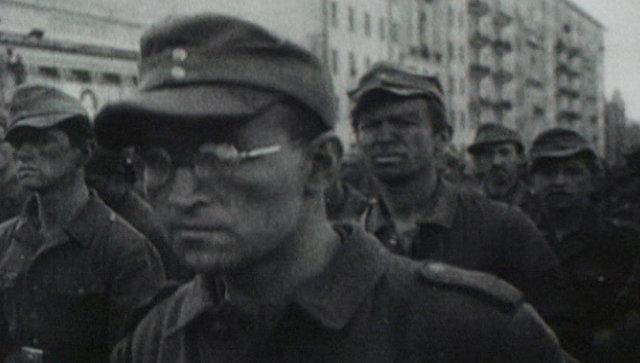 Марш немецких пленных в Москве 17 июля 1944 года. Архивные кадры