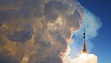 Пуск ракеты-носителя Союз-ФГ с транспортным пилотируемым кораблем Союз МС-07 с космодрома Байконур. Архивное фото