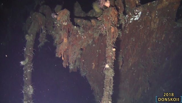 Обломки российского крейсера Дмитрий Донской, найденного в Японском море у берегов Южной Кореи