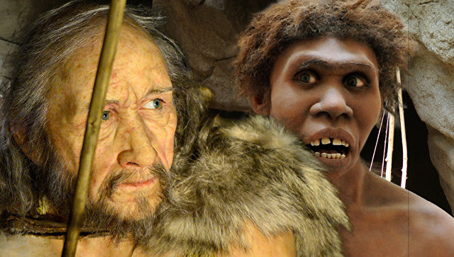 Кроманьонец и неандерталец