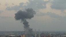 Дым над Газой после ударов Армии обороны Израиля. Архивное фото
