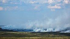 Лесные пожары в тундре в районе села Териберка Кольского района Мурманской области. 21 июля 2018