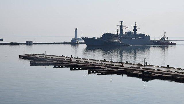 Корабли военно-морской группы НАТО в порту Одессы. Архивное фото