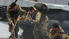 Высадка подразделения морской пехоты Тихоокеанского флота. Архивное фото