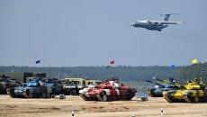 Самолет Ил-76МД на церемонии открытия конкурса Танковый биатлон-2018 на подмосковном полигоне Алабино. Архивное фото