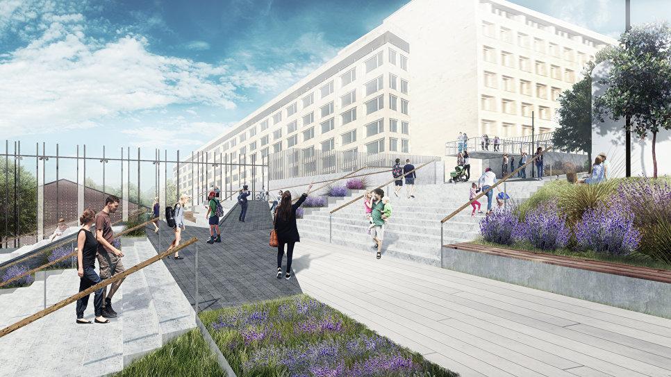 Проект нового прохода в Парк Горького, лестница
