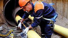 Работы по замене газопровода. Архивное фото