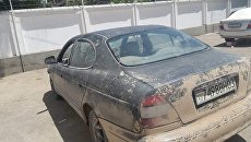 Автомобиль на котором передвигались преступники совершившие наезд на 7 иностранных граждан-велосипедистов в Таджикистане. Архивное фото