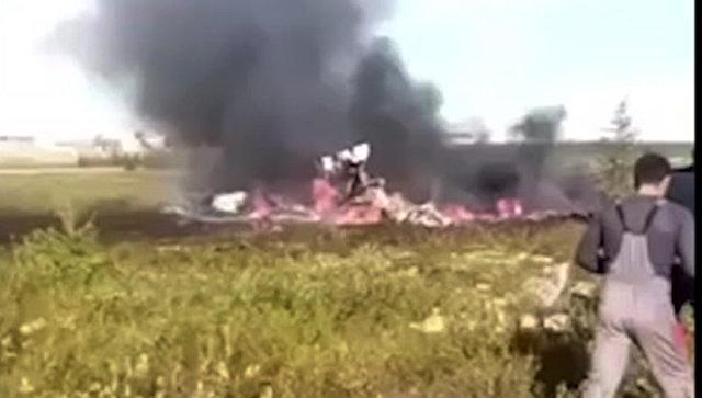 Сотрудники МЧС на месте крушения вертолета ми-8 в Красноярском крае