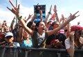 Зрители на музыкальном рок-фестивале Нашествие 2018 в поселке Большое Завидово в Тверской области. 4 августа 2018