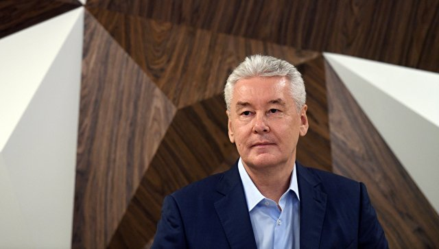 Кандидат в мэры Москвы Сергей Собянин в предвыборном штабе. Архивное фото