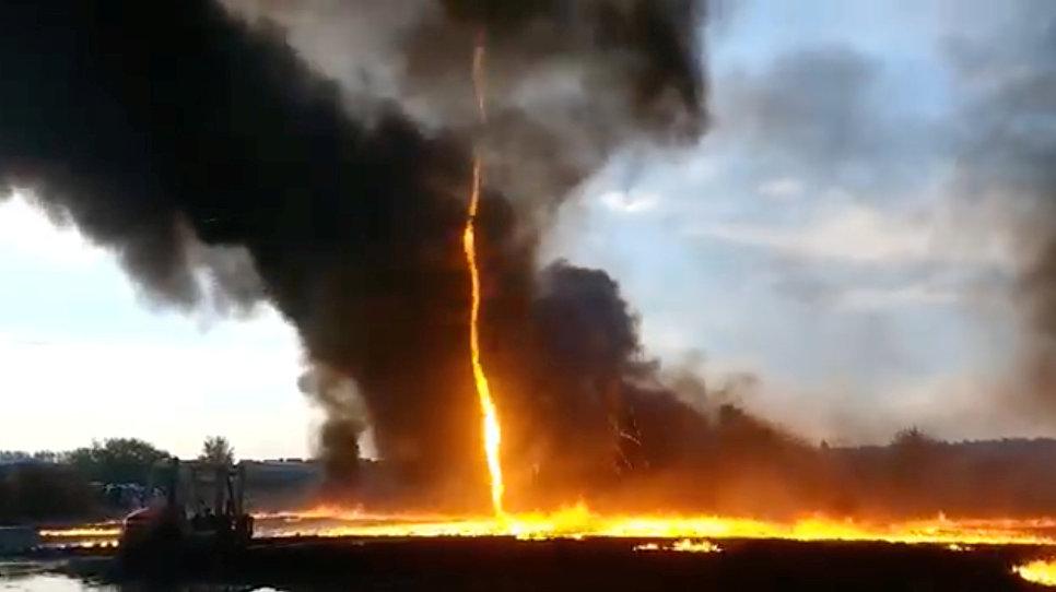 Огненное торнадо в Британии. 7 августа 2018 года