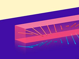 Так художник представил себе то, как сверхпроводники ускоряют движение волн в магнитных материалах