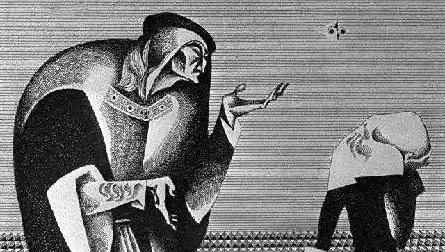 Репродукция иллюстрации Виталия Воловича к трагедии Уильяма Шекспира Ричард III