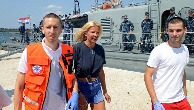 Жительница Великобритании Кэй Лонгстафф, спасенная после падения с круизного лайнера у побережья Хорватии. 19 августа 2018
