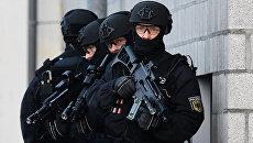 Сотрудники подразделения спецназа Федеральной полиции Германии. Архивное фото