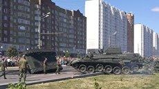 Инцидент с участием танка Т-34 после военного парада в Курске. 23 августа 2018