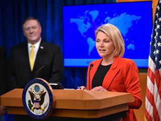 Официальный представитель госдепартамента США Хезер Науэрт. Архивное фото
