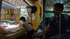 В палаточном лагере для мигрантов в Гольяново
