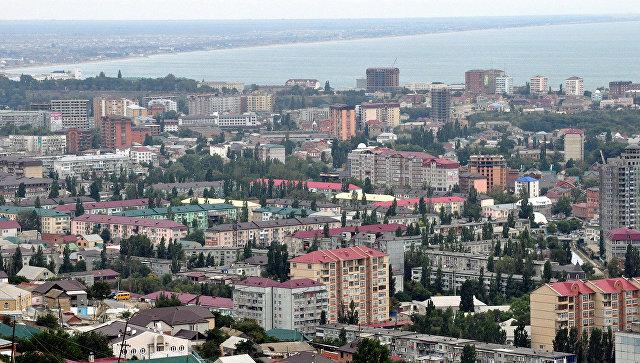 Вид на дагестанский город Махачкала. Архивное фото