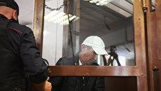 Обвиняемый в убийстве полицейского на станции метро Курская в Москве Нурлан Мурлатов на заседании Черемушкинского районного суда Москвы. 5 сентября 2018