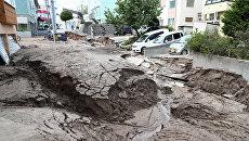 Последствия землетрясения на острове Хоккайдо в Японии. 6 сентября 2018