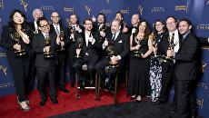 Создатели эпизода Огурчик Рик мультсериала Рик и Морти на церемонии вручения премии Creative Arts Emmy