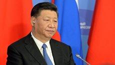 Председатель КНР Си Цзиньпин на ВЭФ.