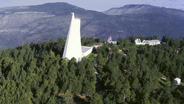 Национальная солнечная обсерватория на пике Сакраменто в Нью-Мексико, США. Архивное фото