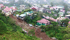 Последствия тайфуна Мангхут в городе Багио на Филиппинах. 16 сентября 2018 года