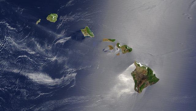 Гавайские острова на снимке из космоса