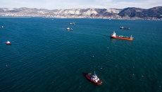Корабли в Цемесской бухте Новороссийска