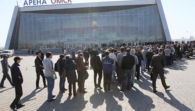 Очередь за билетами на финальный матч Кубка Гагарина КХЛ