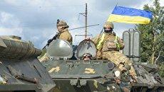 Военнослужащие вооруженных сил Украины во время учений Козацька воля – 2018. Архивное фото