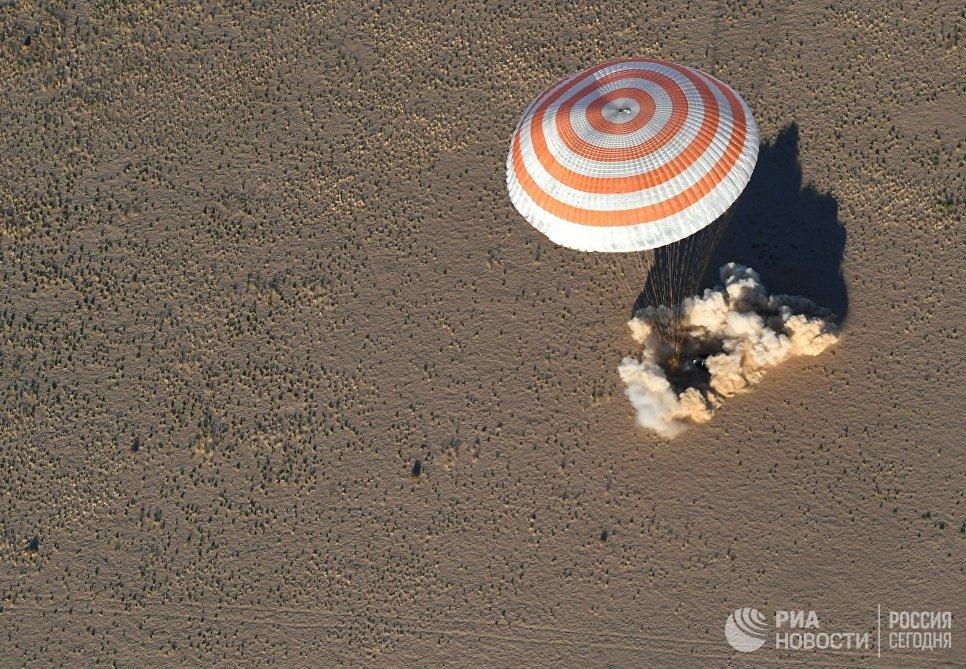 Спускаемый аппарат корабля Союз МС-08. 4 октября 2018