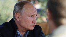 Президент РФ Владимир Путин в Ставропольском крае. 9 октября 2018