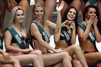 Фотосессия кандидаток на звание Мисс Земля в Маниле