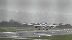 Пилоты в Бристоле совершили мастерскую посадку лайнера во время шторма