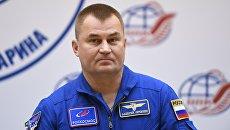 Космонавт Роскосмоса Алексей Овчинин на пресс-конференции в Центре подготовки космонавтов