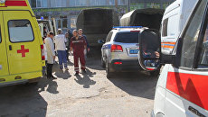 У Политехнического колледжа в Керчи, в котором произошел взрыв