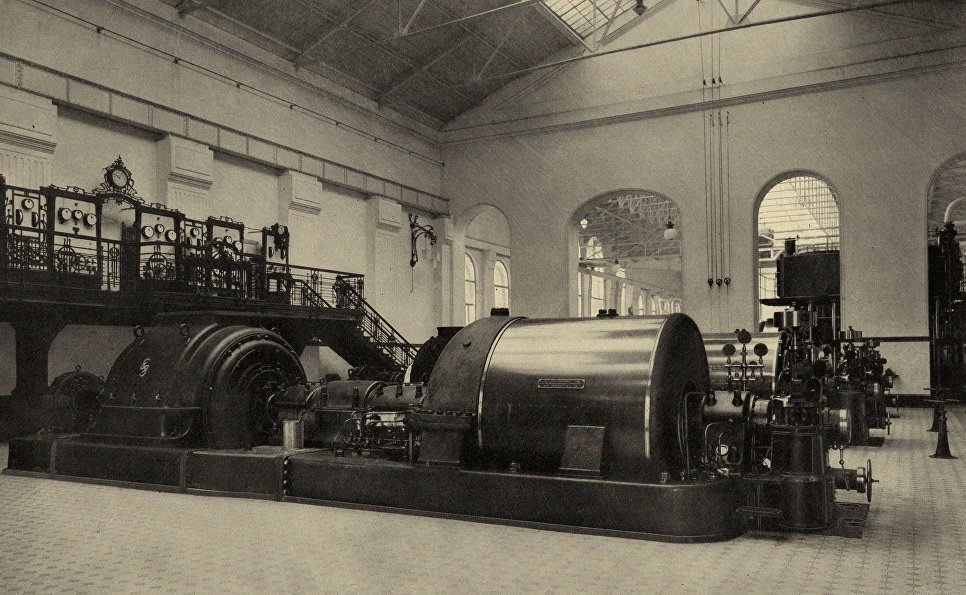 Машинный зал начала XX века