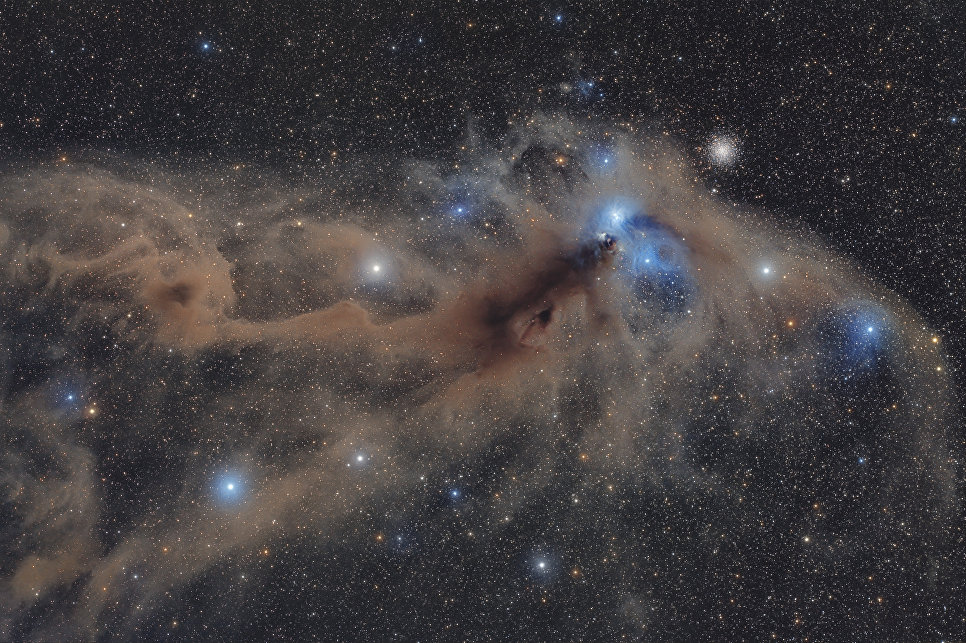 Работа фотографа Mario Cogo Corona Australis Dust Complex. Конкурс Insight Astronomy Photographer of the year 2018