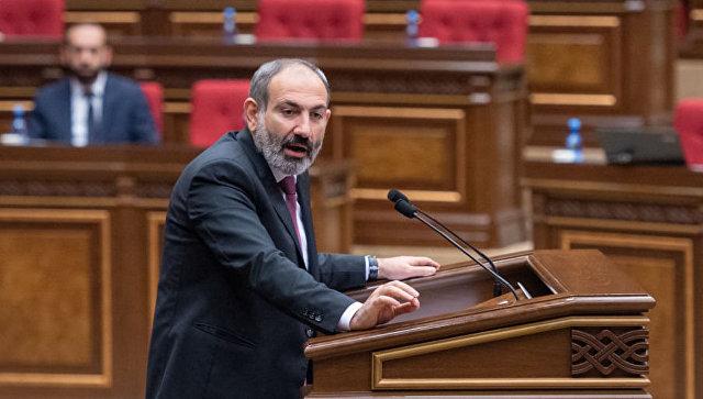 Никол Пашинян на внеочередном заседании парламента Армении. 24 октября 2018