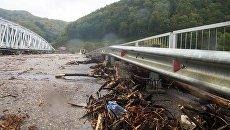Последствия сильных дождей в Туапсе в Краснодарском крае