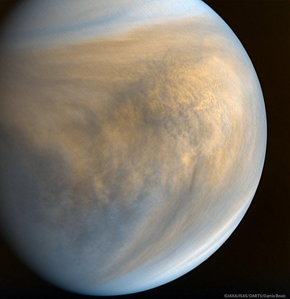 """Зонд """"Акацуки"""" получил красивые """"цветные"""" фотографии Венеры"""