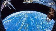 Земля с борта Международной космической станции. Архивное фото