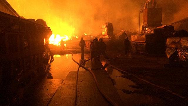 Пожар на Гжельском кирпичном заводе локализовали