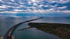 Крымский мост. Сентябрь 2018. Архивное фото