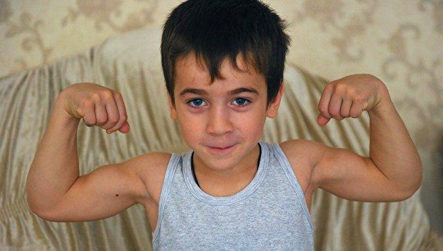 Пятилетний житель чеченского села Дуба-Юрт Рахим Куриев. Архивное фото